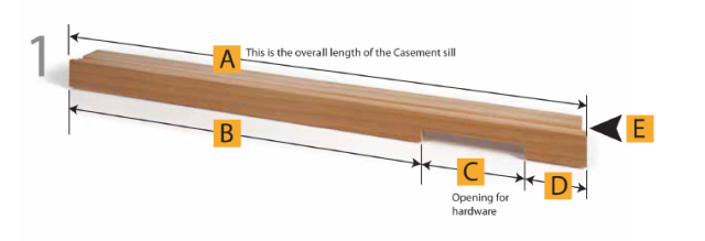 Oldach Casement Window Universal Replacement Wood Parts